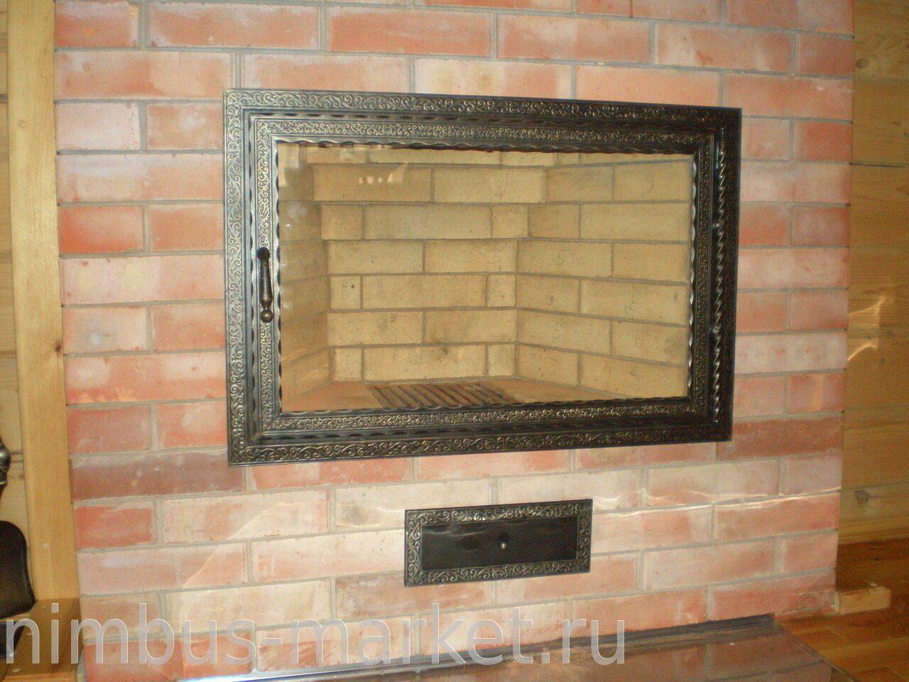 Дверца для камина со стеклом своими руками