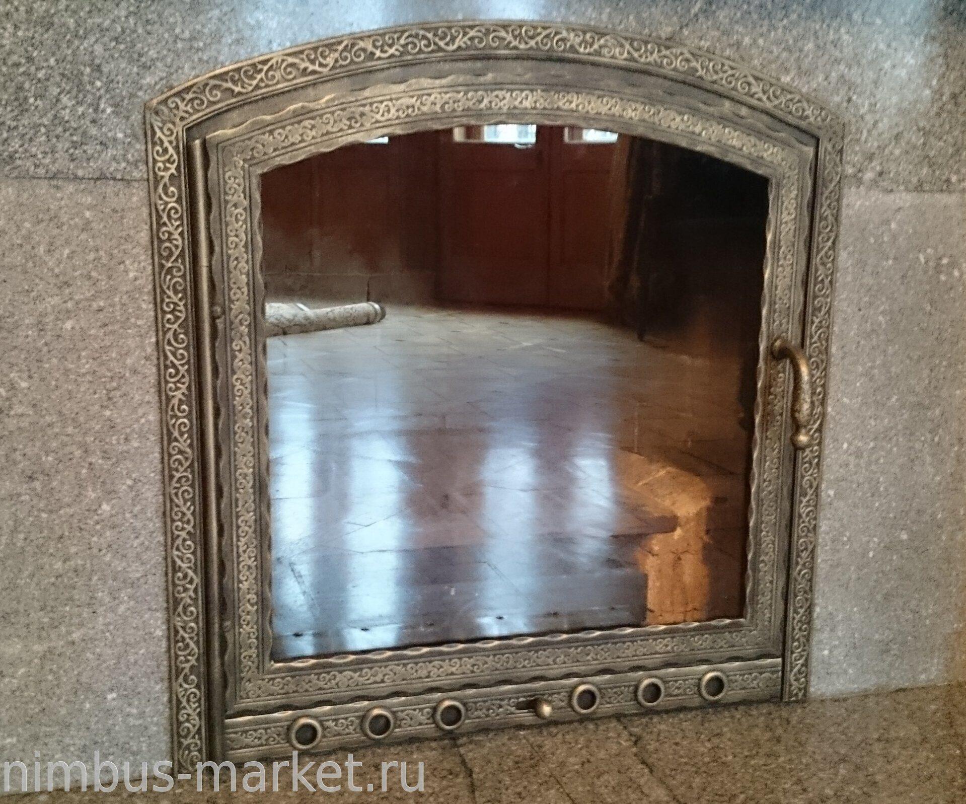дверца для камина со стеклом купить